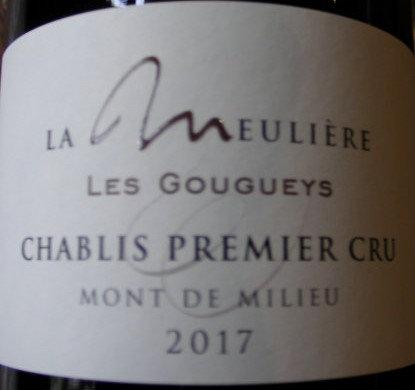 """Chablis 1er Cru """"Monts de Milieu"""" 2017 Domaine de la Meulière"""