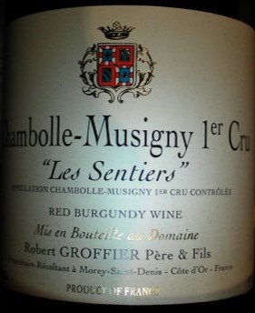 "Chambolle-Musigny 1er Cru ""Les Sentiers"" 2001 GROFFIER Rouge"