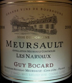 "Meursault ""Narvaux"" 2008 BOCARD Blanc"