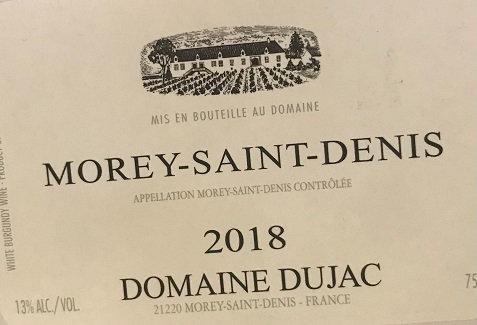 Morey-Saint-Denis 2018 DUJAC Blanc