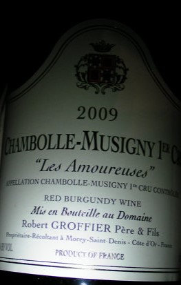 "Chambolle-Musigny 1er Cru ""Les Amoureuses"" 2009 GROFFIER Rouge"