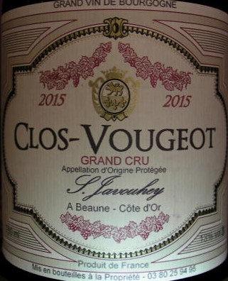 Clos Vougeot Grand Cru 2015 S.JAVOUHEY Rouge