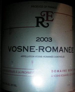 Vosne-Romanée 2003 ENGEL Rouge