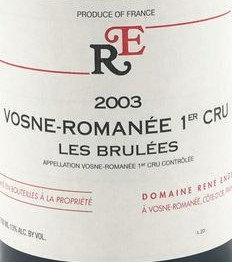 """Vosne-Romanée 1er Cru """"Les Brulées"""" 2003 ENGEL Rouge"""