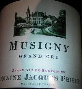 Musigny Grand Cru 2012 J.PRIEUR Rouge