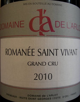 Romanée-Saint-Vivant Grand Cru 2010 Dne de l'Arlot Rouge
