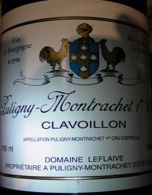 """Puligny-Montrachet 1er Cru """"Clavoillon"""" 2005 LEFLAIVE Blanc"""