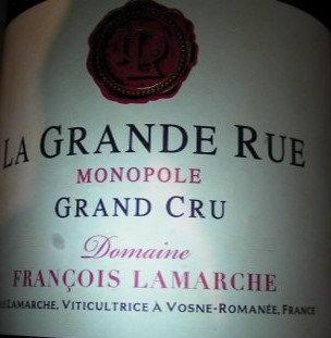 La Grande Rue Grand Cru Monopole 2017 LAMARCHE Rouge