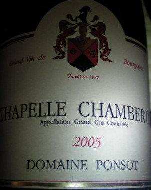 Chapelle-Chambertin Grand Cru 2005 PONSOT Rouge