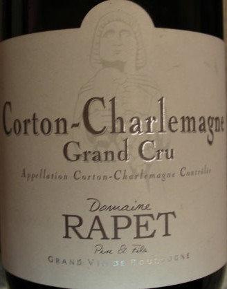 Corton-Charlemagne Grand Cru 2015 RAPET Blanc