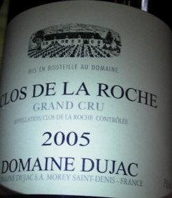 Clos de la Roche Grand Cru 2005 DUJAC Rouge