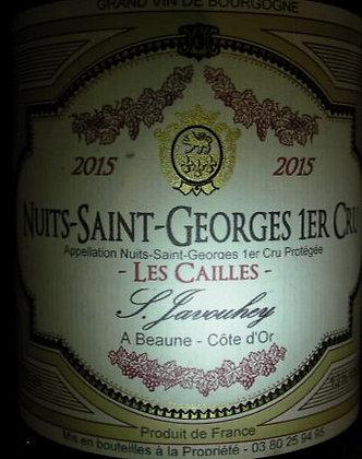 """Nuits-Saint-Georges 1er Cru """"Les Cailles"""" 2015 S.JAVOUHEY Rouge"""