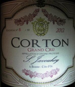 Corton Grand Cru Magnum 2012 S.JAVOUHEY Rouge