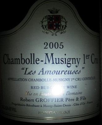 "Chambolle-Musigny 1er Cru ""Les Amoureuses"" Magnum 2005 GROFFIER Rouge"