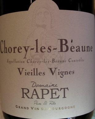 Chorey-lès-Beaune 2015 RAPET Rouge