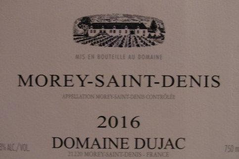 Morey-Saint-Denis 2016 DUJAC Blanc