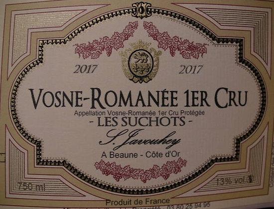 """Vosne-Romanée 1er Cru """"Les Suchots"""" 2017 S.JAVOUHEY Rouge"""