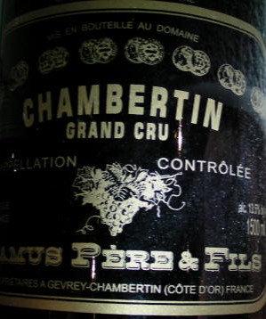 Chambertin Grand Cru Magnum 2010 CAMUS Rouge