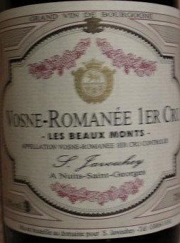 """Vosne-Romanée 1er Cru """"Les Beaux Monts"""" 2005 S.JAVOUHEY Rouge"""