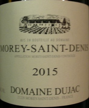 Morey-Saint-Denis 2015 DUJAC Blanc