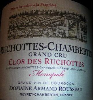 "Ruchottes-Chambertin Grand Cru ""Clos Ruchottes"" Monopole 2012 A.ROUSSEAU Rouge"
