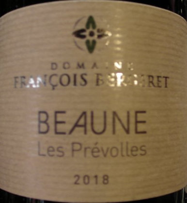 "Beaune ""Prévolles"" 2018 BERGERET Blanc"