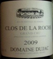 Clos de la Roche Grand Cru 2009 DUJAC Rouge