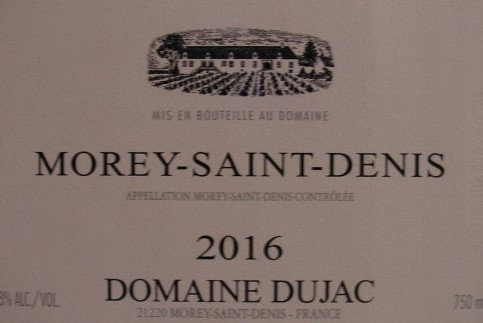 Morey-Saint-Denis 2016 DUJAC Rouge