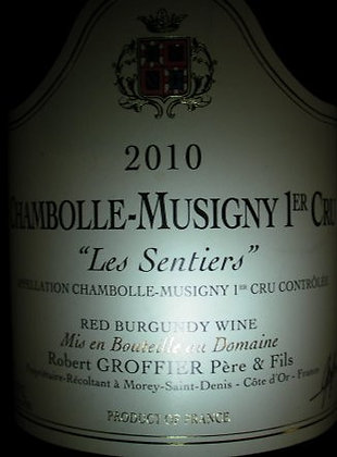 """Chambolle-Musigny 1er Cru """"Les Sentiers"""" 2010 GROFFIER Rouge"""