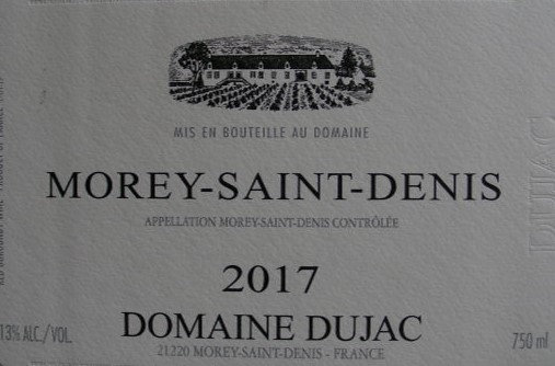 Morey-Saint-Denis 2017 DUJAC Rouge