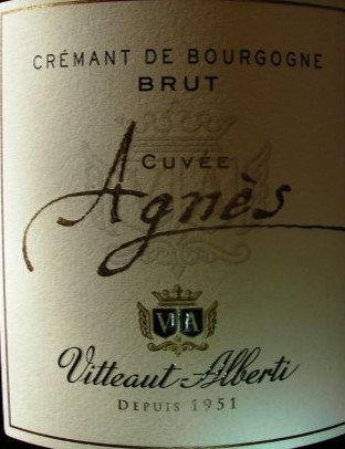 """Crémant de Bourgogne """"Cuvée Agnes"""" VITTEAUT-ALBERTI Blanc"""