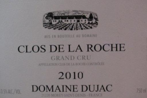 Clos de la Roche Grand Cru 2010 DUJAC Rouge