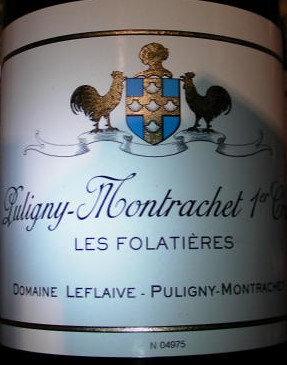 """Puligny-Montrachet 1er Cru """"Les Folatières"""" 2016 LEFLAIVE Blanc"""