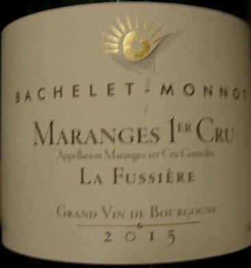 """Maranges 1er Cru """"Clos de la Fussière"""" 2015 BACHELET-MONNOT Rouge"""