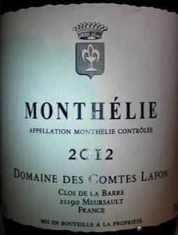 Monthélie 2012 Comtes LAFON Blanc