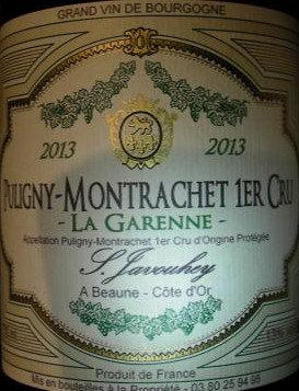 "Puligny-Montrachet 1er Cru ""La Garenne"" 2013 S.JAVOUHEY Blanc"