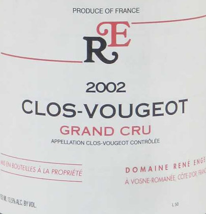Clos Vougeot Grand Cru 2002 ENGEL Rouge