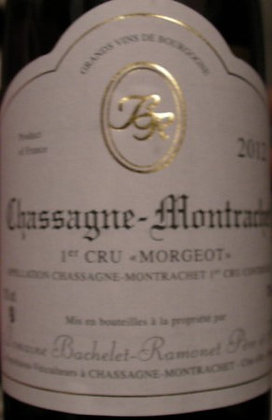"""Chassagne-Montrachet 1er Cru """"Morgeot"""" 2012 BACHELET-RAMONET Blanc"""