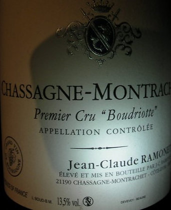 """Chassagne-Montrachet 1er Cru """"Boudriotte"""" 2012 RAMONET Blanc"""