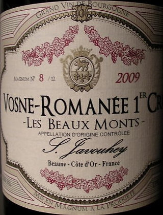 """Vosne-Romanée 1er Cru """"Les Beaux Monts"""" Magnum 2009 S.JAVOUHEY Rouge"""