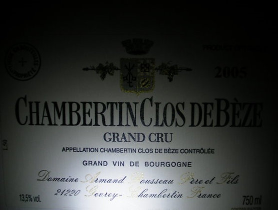 Chambertin-Clos de Bèze Grand Cru 2005 A.ROUSSEAU Rouge