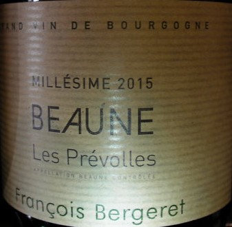 "Beaune ""Prévolles"" 2015 BERGERET Blanc"