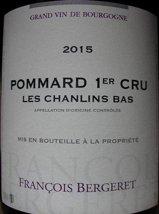 """Pommard 1er Cru """"Chanlins"""" 2015 BERGERET Rouge"""