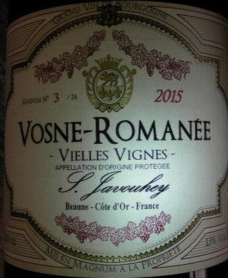 """Vosne-Romanée """"Vieilles Vignes"""" Magnum 2015 S.JAVOUHEY Rouge"""