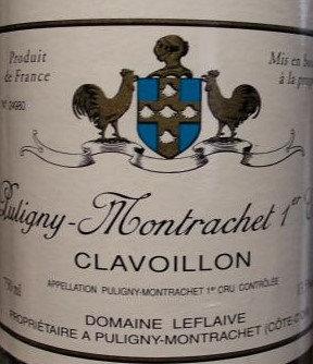 """Puligny-Montrachet 1er Cru """"Clavoillon"""" 2018 LEFLAIVE Blanc"""