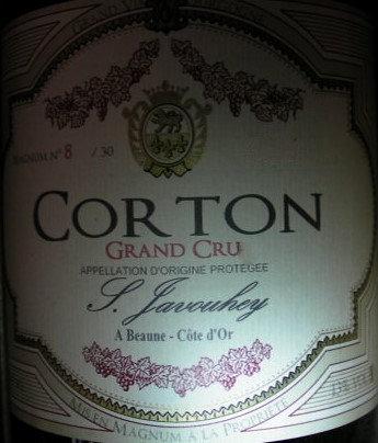 Corton Grand Cru Magnum 2010 S.JAVOUHEY Rouge