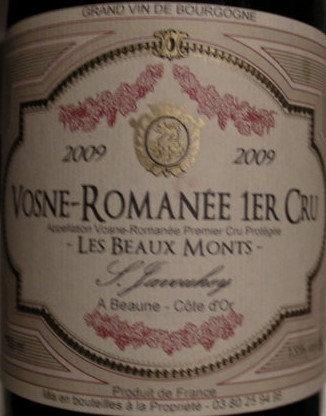 """Vosne-Romanée 1er Cru """"Les Beaux Monts"""" 2009 S.JAVOUHEY Rouge"""