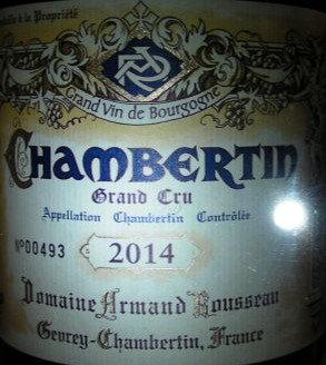 Chambertin Grand Cru 2014 A.ROUSSEAU Rouge