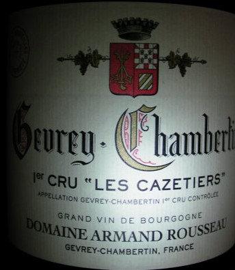 "Gevrey-Chambertin 1er Cru ""Cazetiers"" 2010 A.ROUSSEAU Rouge"