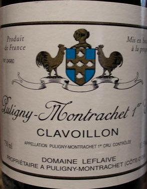 """Puligny-Montrachet 1er Cru """"Clavoillon"""" 2010 LEFLAIVE Blanc"""